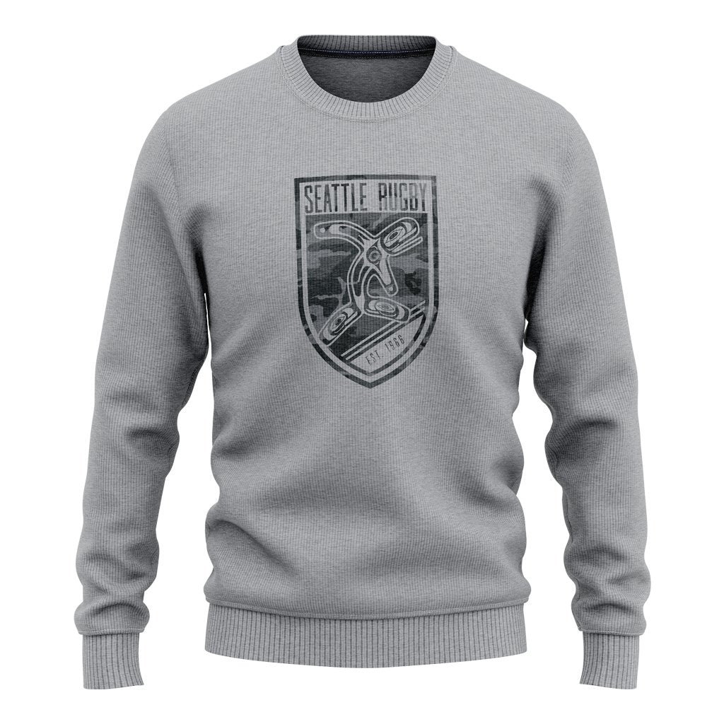 "Seattle Rugby Club Adult Crewneck Sweatshirt ""Camo"" - www.therugbyshop.com"
