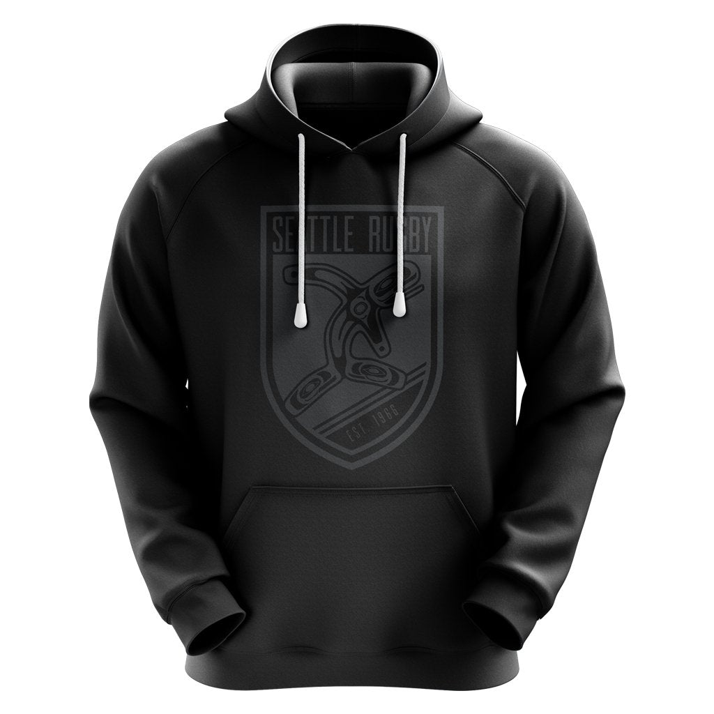 Seattle Rugby Club Adult / Youth Hoodie Black - www.therugbyshop.com
