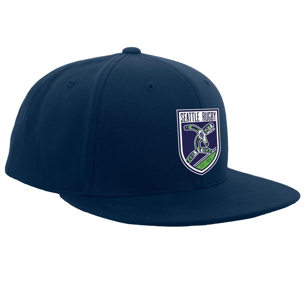 Seattle Rugby Club Snap Back Flat Brim Hat - www.therugbyshop.com