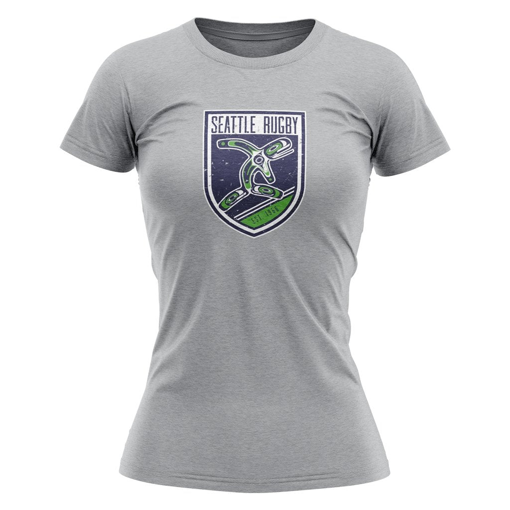 Seattle Rugby Club Tee Men's / Women's / Youth Heather Grey - www.therugbyshop.com