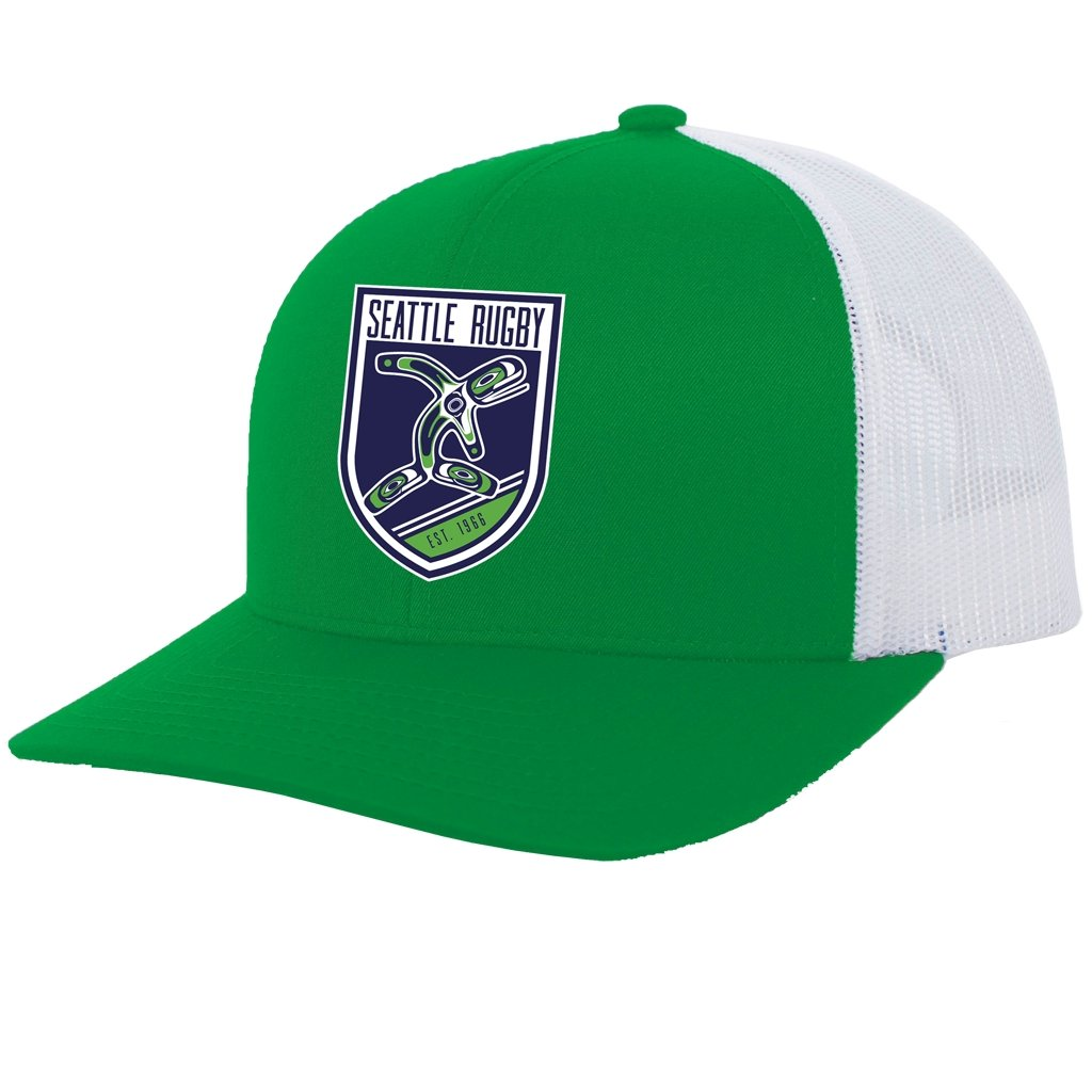 Seattle Rugby Club Trucker Snapback Hat Green - www.therugbyshop.com