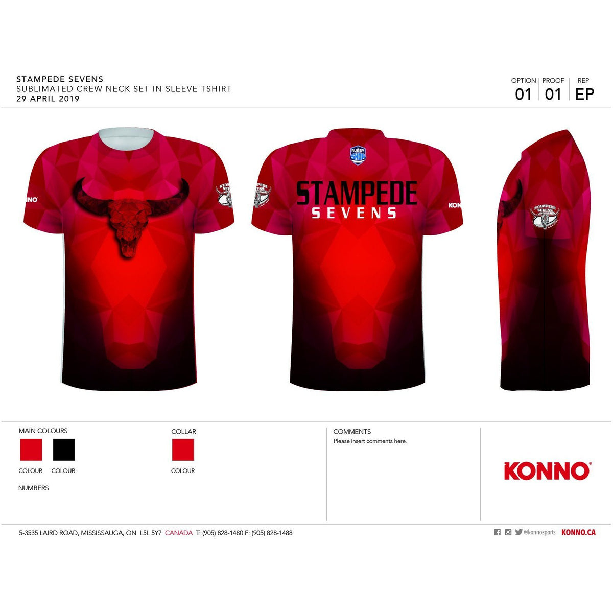 Stampede 7S Sublimated Training Tee - www.therugbyshop.com