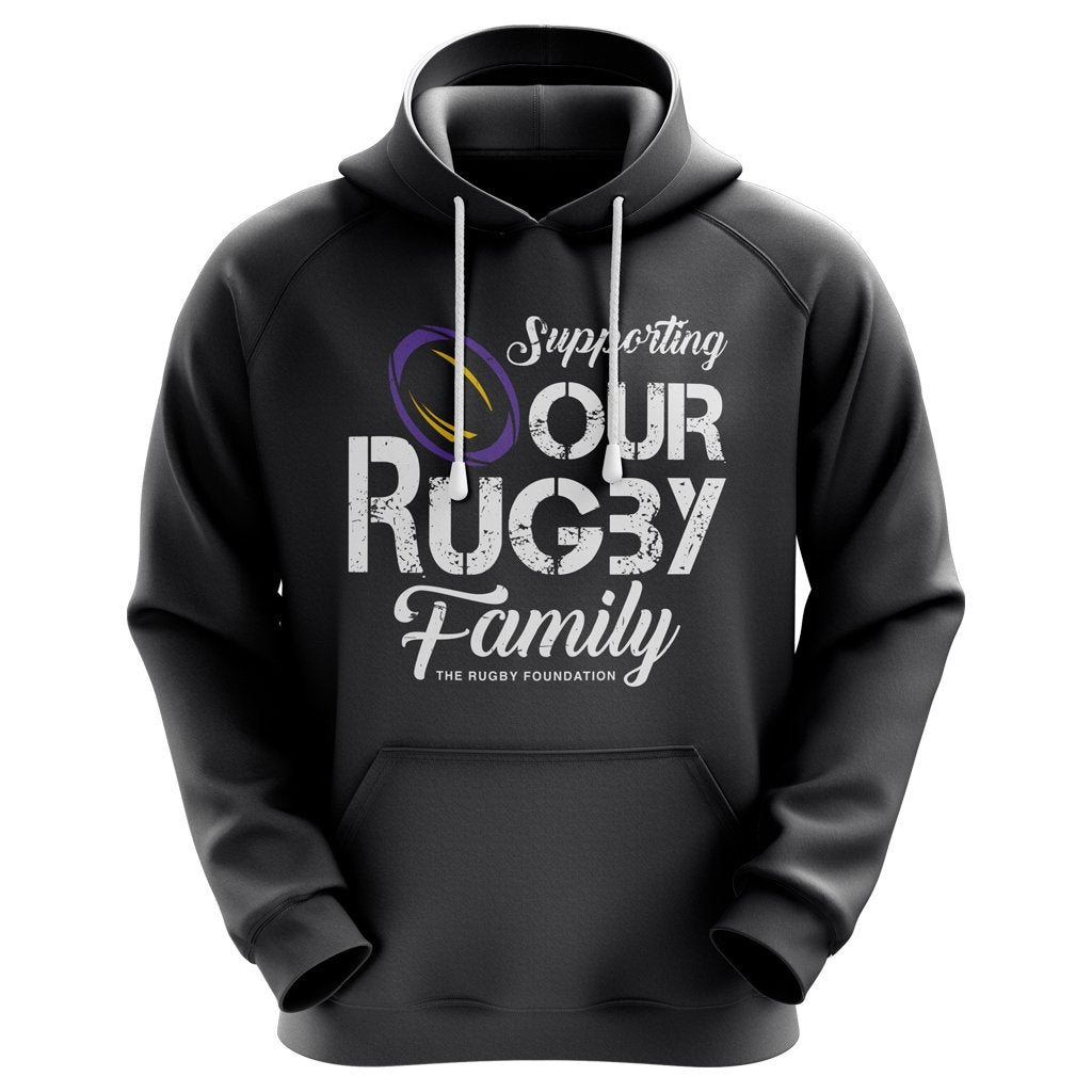 The Rugby Foundation #ruckucancer Grey Graphic Hoodie 2 - Unisex - www.therugbyshop.com