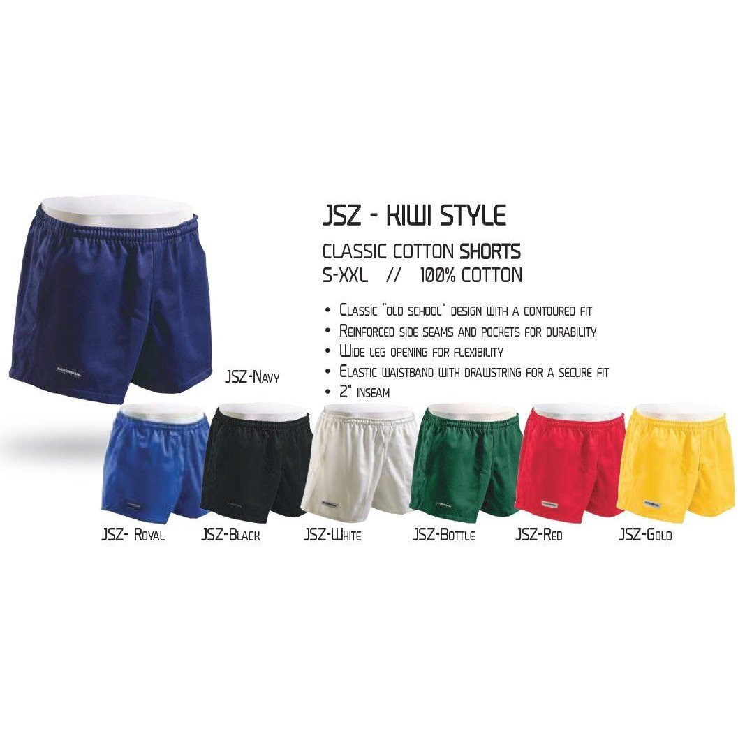 Vicars Embroidered Cotton Match Shorts - Multiple Colors - www.therugbyshop.com
