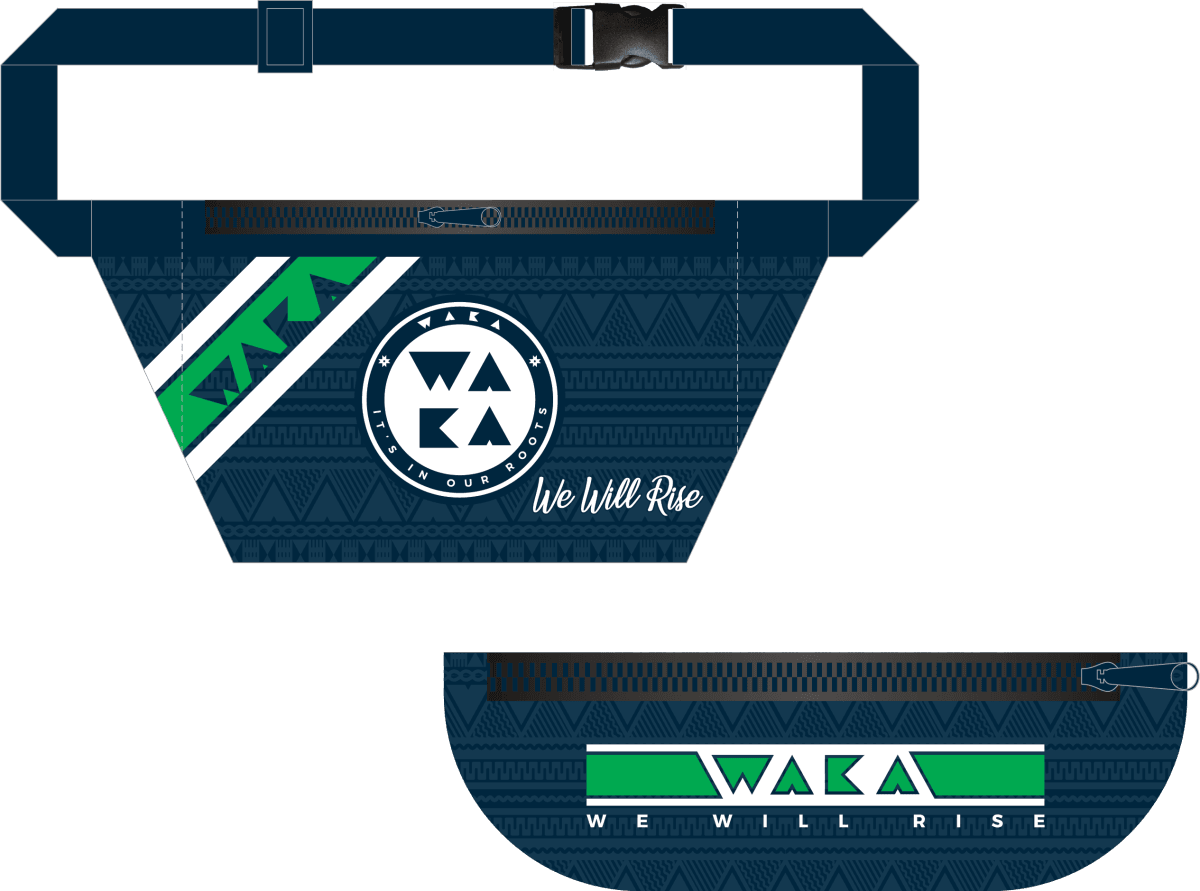 "WAKA ""We Will Rise"" Fanny Pack - PREORDER SHIPPING FEBRUARY 2021 - www.therugbyshop.com"