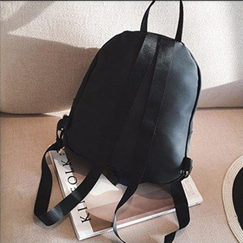 YESSTYLE™ 2019 Casual Lady Backpack Black Travel Waterproof  Wild Small Backpack Star With The Same Nylon Shoulder bag Oxford Cloth Backpack