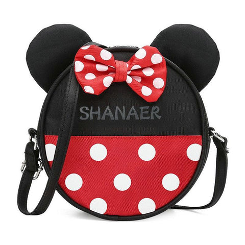 YESSTYLE™ 2019 Hot Children handbag mini lady cute shoulder bags girl butterfly bag a main female Mickey minnie Bow tie bag 2 Color