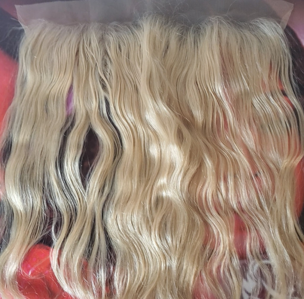 Blonde Indian Wavy Lace Frontal