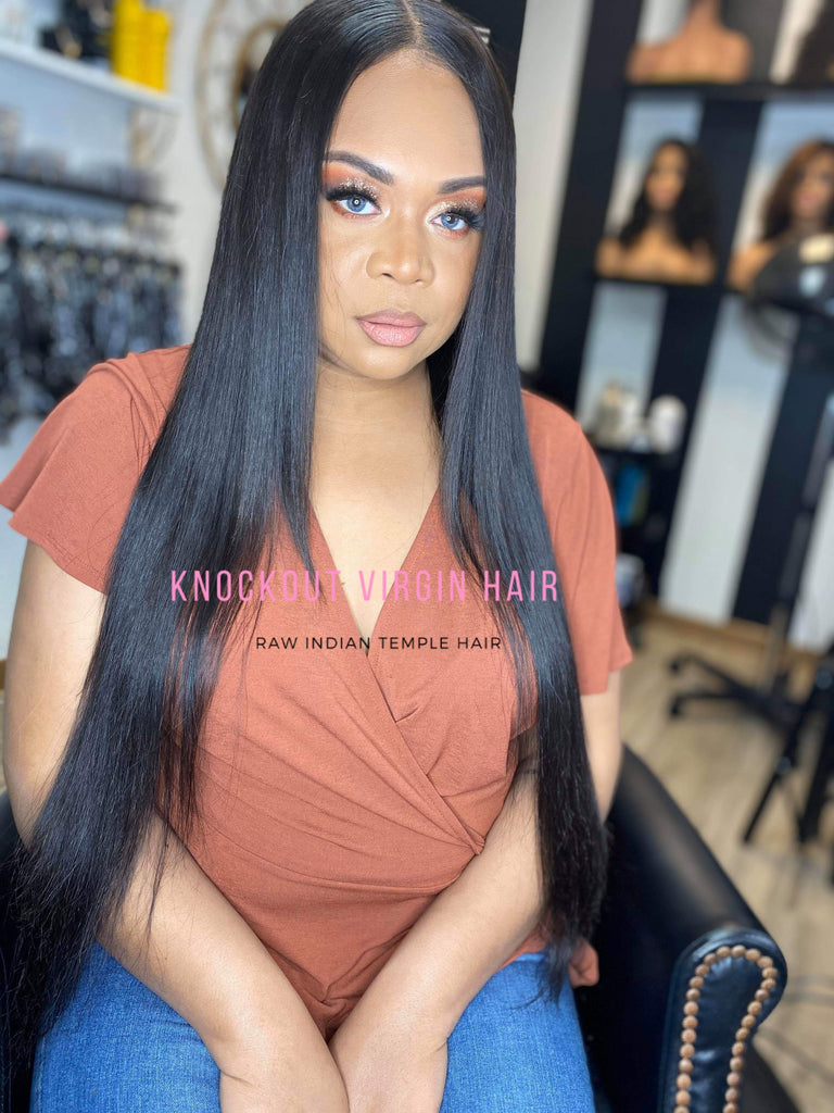 4x4 Raw Indian Straight Lace Closure