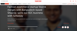YOURSTORY article about Voonik merger with Schoolay
