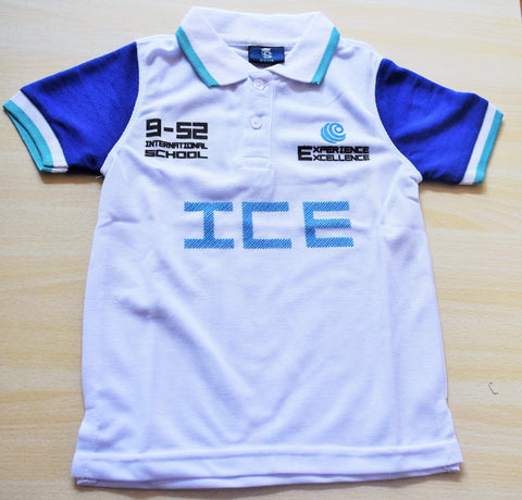 ICE Boys & Girls- Polo Tee-White (Prep-Grade V)