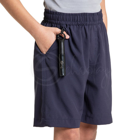 Multipurpose Utility Shorts With Attached Sanitizer Holder & T-shirt Holder - Navy