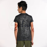 All Day Wear Camo Versatile Black Tee