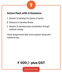 Active Pack With 4 Sessions
