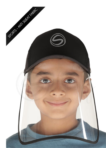 Schoolay Defenders-Panther Black Sporty Detachable Cap shield