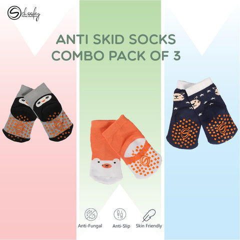 Anti-Slip Grips Infant Socks combo 3
