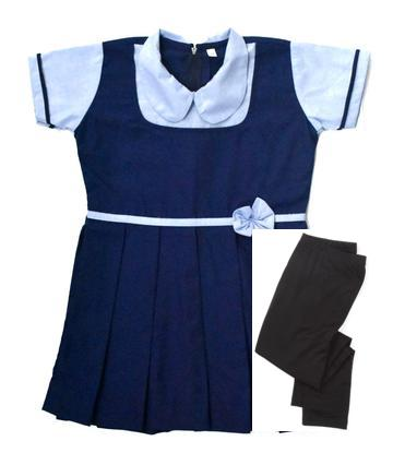 IJ- Girls Regular uniform(Frock & Leggings) Set