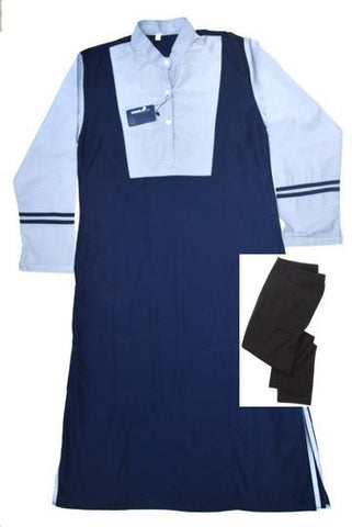 Iqra-Grade(5-10) Girls Regular Uniform (Long Pinafore& Legging) set
