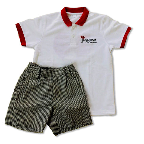 Jigyasa The School T-Shirt & Shorts Set ( Primary Boys )
