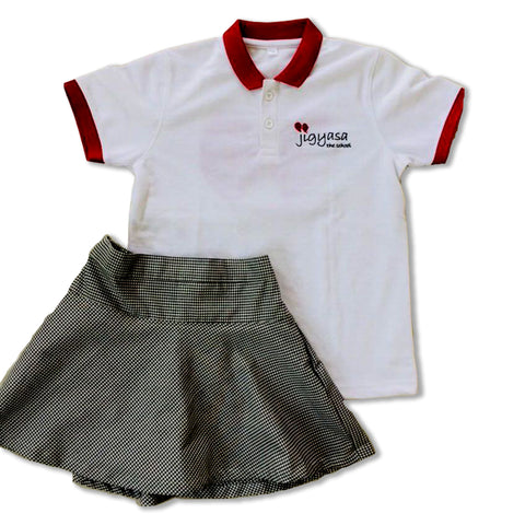 Jigyasa The School T-Shirt & Skirt Set (Primary Girls)