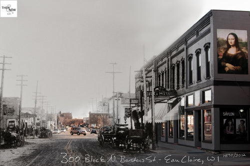 Then & Now Art®: 308 N. Barstow St. - Eau Claire, WI [1890/2012]