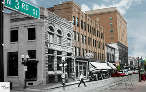 Then & Now Art®: 400 Block #1 - Wausau, WI [1925/2012]