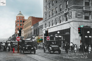 Then & Now Art®: 400 Block #2 - Wausau, WI [1925/2012]