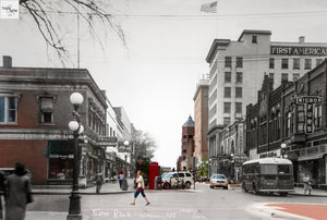 Then & Now Art®: 500 Block #2 - Wausau, WI [1940s/2012]