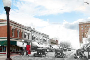 Then & Now Art®: 500 Block #1 - Wausau, WI [1925/2012]