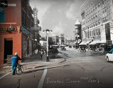 Then & Now Art®: Barstow Scene - Eau Claire, WI [1925/2012]