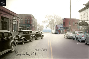 Then & Now Art®: Written House Ave - Bayfield, WI [1940's/2014]