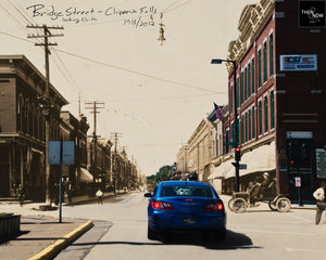 Then & Now Art®: Bridge Street North - Chippewa Falls, WI [1913/2012]