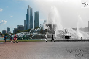 Then & Now Art®: Buckingham Fountain - Chicago, IL [1941/2016]