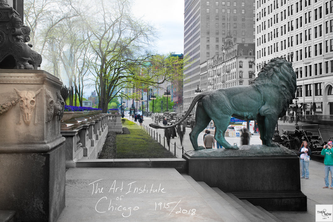 Then & Now Art®: The Art Institute - Chicago, IL [1915/2018]