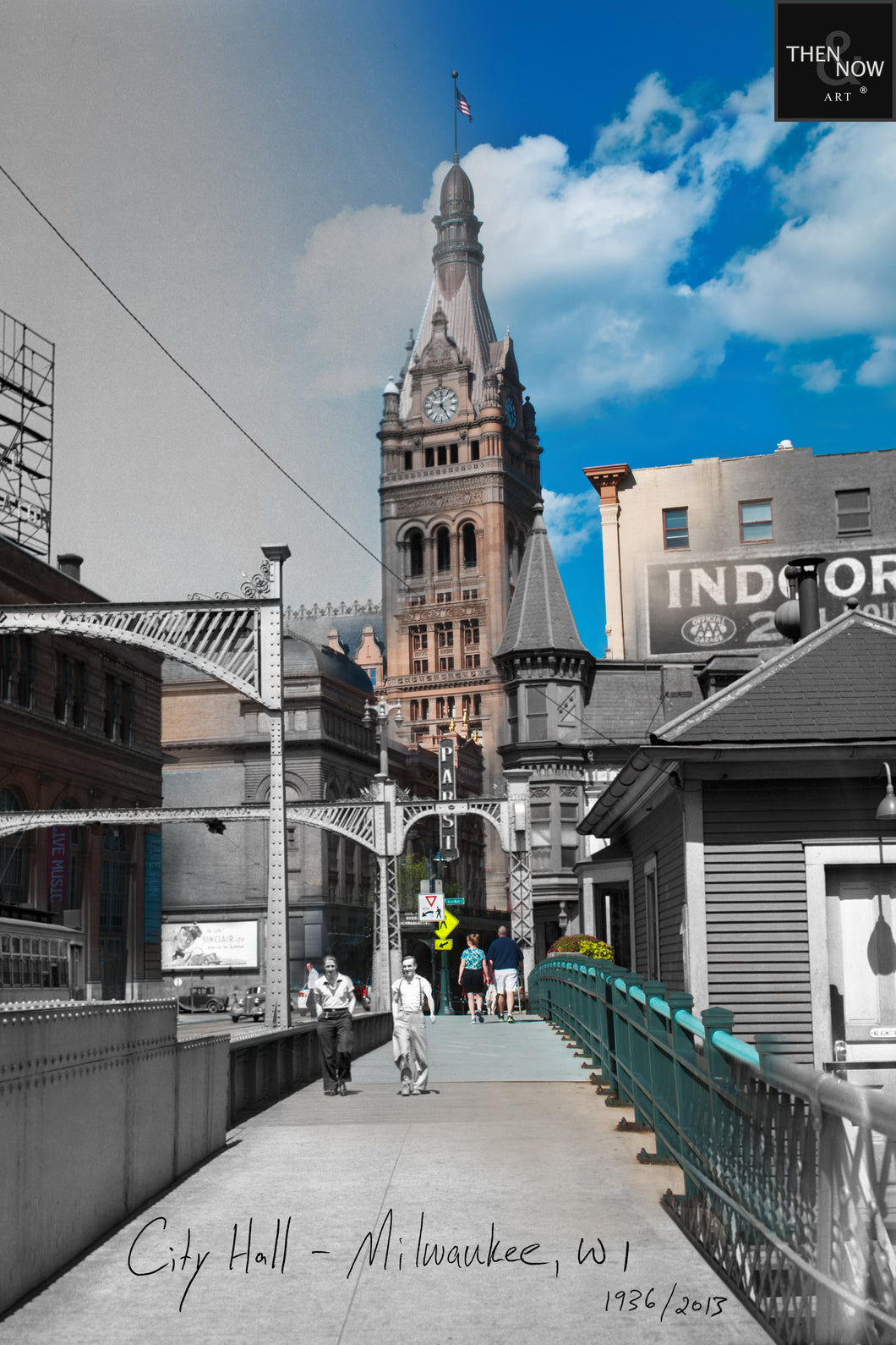 Then & Now Art®: City Hall - Milwaukee, WI [1936/2013]