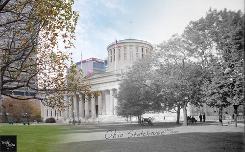Then & Now Art®: Ohio Statehouse - Columbus, OH [1900/2020]