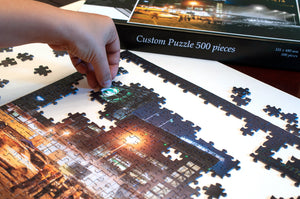 Then & Now Art®: Lambeau Field - 500 Piece Jigsaw Puzzle