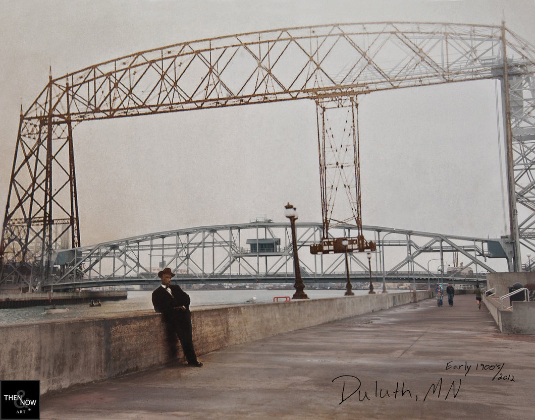 Then & Now Art®: Duluth Bridge - Duluth, MN [1900's/2012]