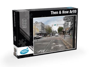 Then & Now Art®: Greenville, NC - 500 Piece Jigsaw Puzzles