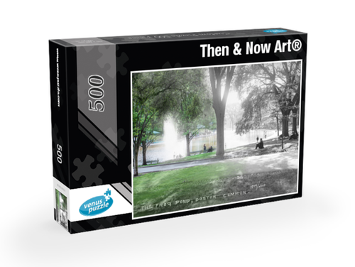 Then & Now Art®: Boston, MA - 500 Piece Jigsaw Puzzles