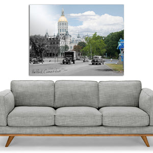 Then & Now Art®: State Capitol - Hartford, CT [1941/2020]