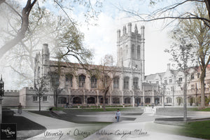 Then & Now Art®: Hutchinson Courtyard - University of Chicago [1900/2017]