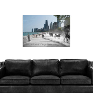 Then & Now Art®: Lake Shore Drive - Chicago, IL [1905/2014]