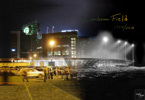Then & Now Art®: Lambeau Field - Green Bay, WI (Print Option)