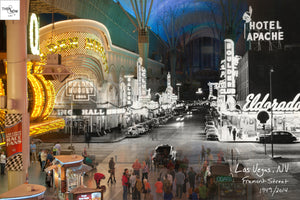 Then & Now Art®: Fremont Street - Las Vegas, NV [1949/2014]