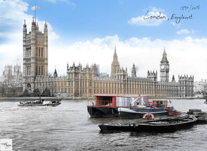 Then & Now Art®: House of Parliament - London, England [1890/2018]