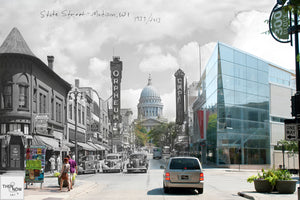 Then & Now Art®: State Street - Madison, WI [1939/2013]