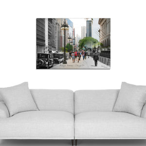 Then & Now Art®: Michigan Avenue - Chicago, IL [1925/2015]