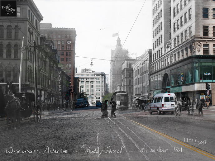 Then & Now Art®: Wisconsin Ave -