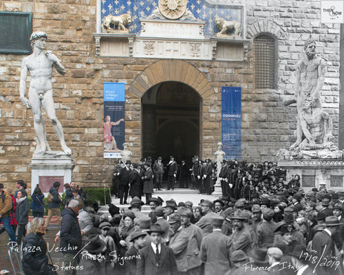 Then & Now Art®: Palazza Vecchio - Florence, Italy [1918/2019]